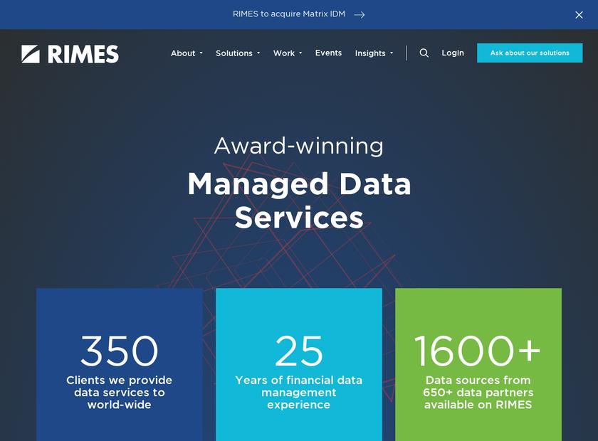 RIMES Technologies Corporation homepage screenshot