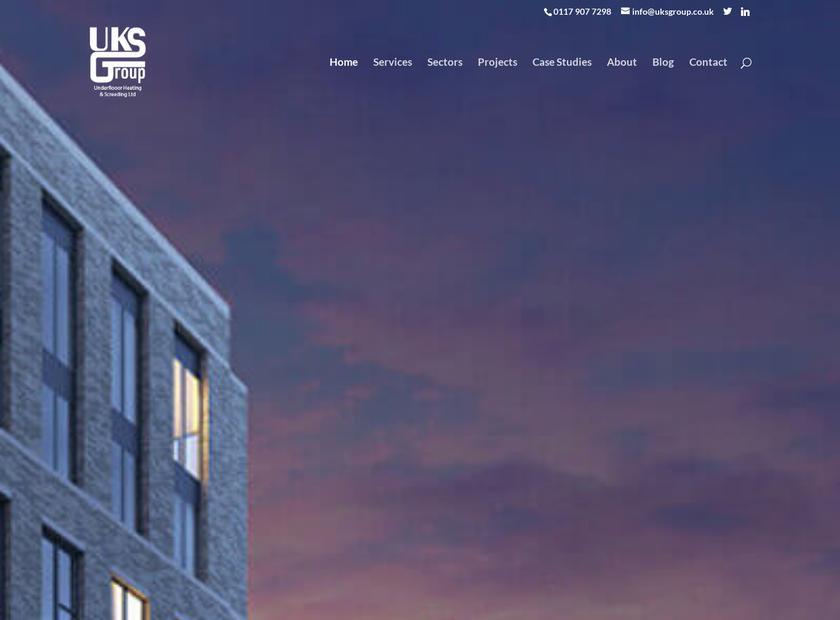 UKS Group Limited homepage screenshot