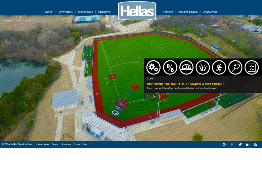 Hellas Construction Inc homepage screenshot