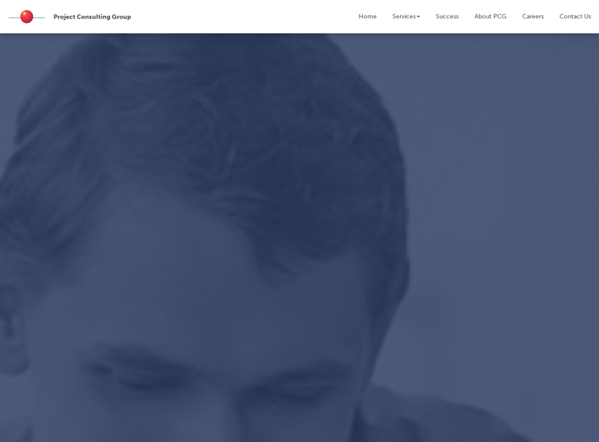 Project Consulting Group homepage screenshot