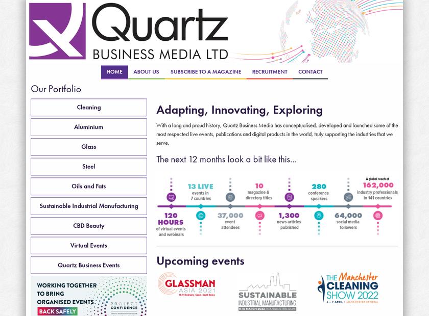 Quartz Business Media Ltd homepage screenshot