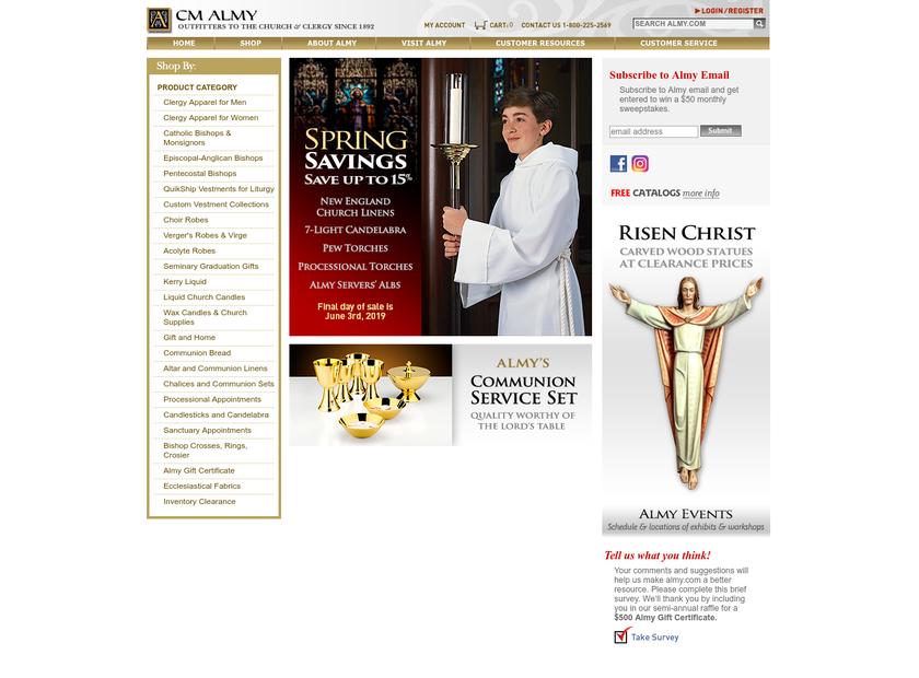 CM Almy Inc homepage screenshot