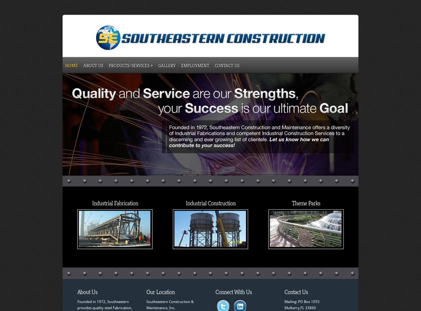SOUTHEASTERN CONSTRUCTION AND MAINTENANCE, INC homepage screenshot