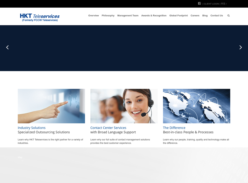 PCCW Teleservices homepage screenshot