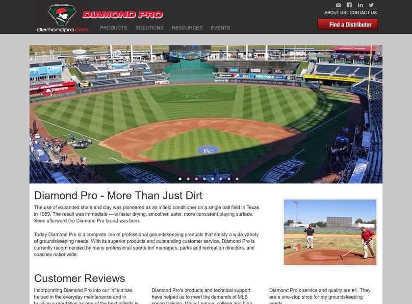 Diamond Pro homepage screenshot