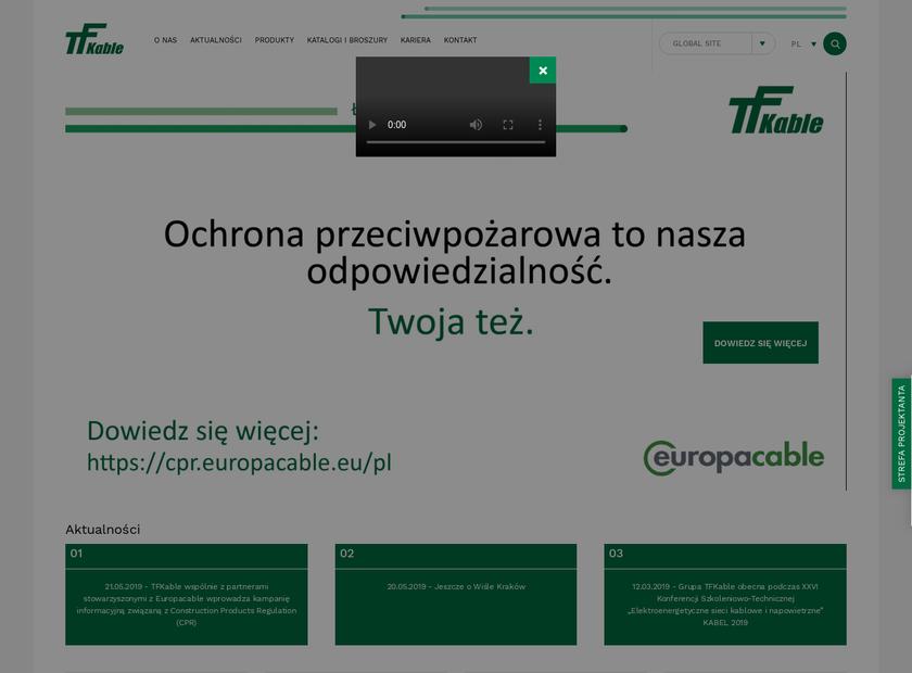 TELE-FONIKA Kable S.A homepage screenshot