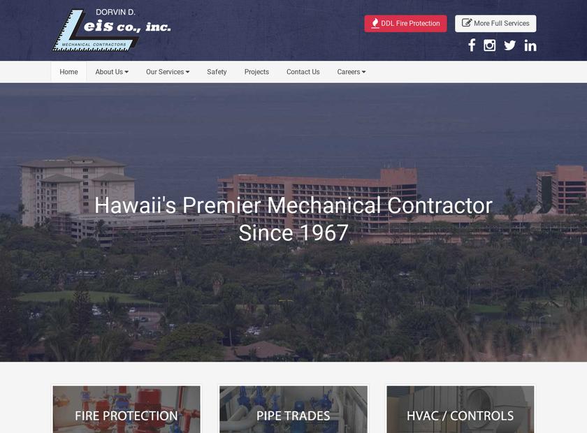 Dorvin D. Leis Co. , Inc. homepage screenshot