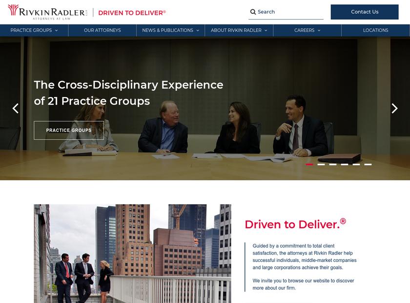 Rivkin Radler LLP homepage screenshot
