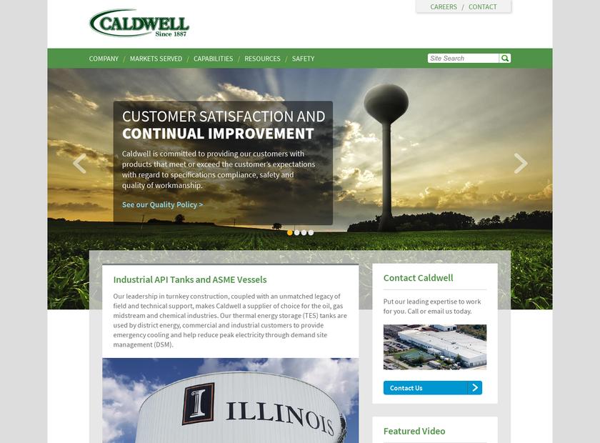 Caldwell Tanks Inc homepage screenshot
