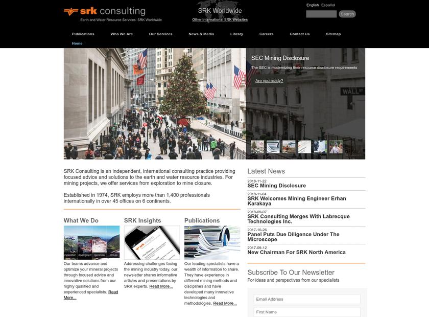 SRK Consulting Ltd homepage screenshot