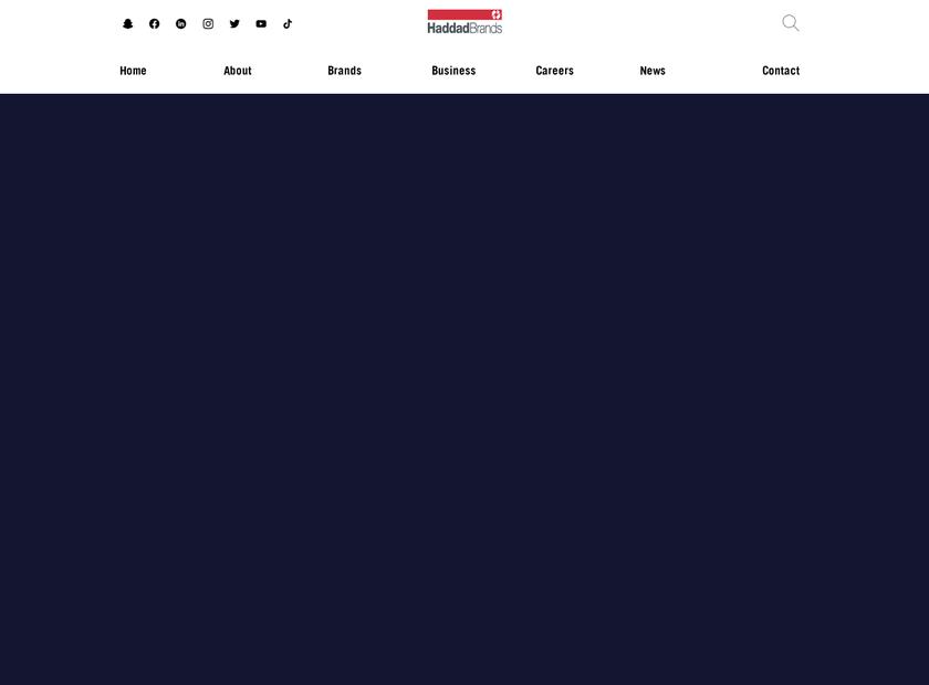 Haddad Brands homepage screenshot