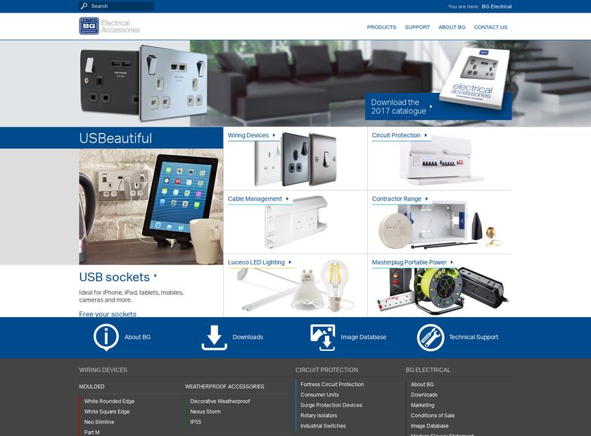 BG Electrical Ltd homepage screenshot