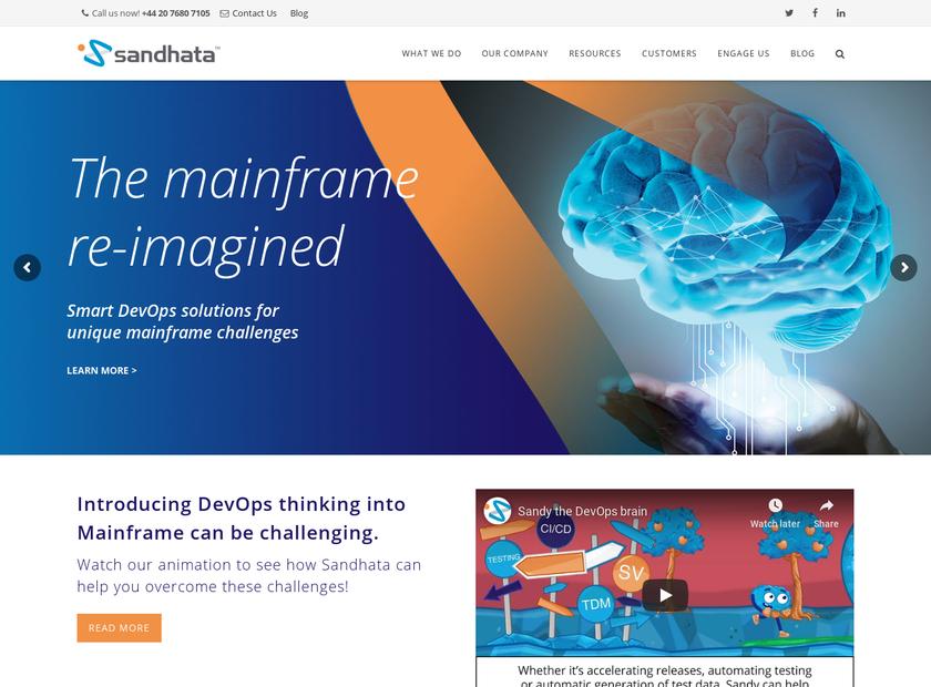 Sandhata Technologies Limited homepage screenshot