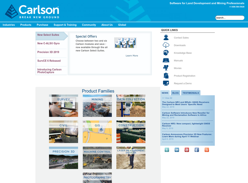 Carlson Software Inc homepage screenshot