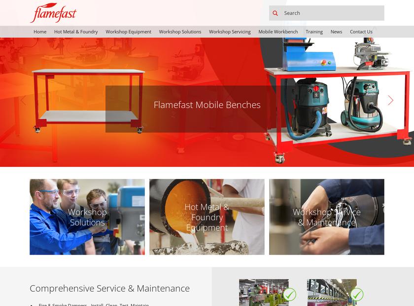 Flamefast Ltd homepage screenshot