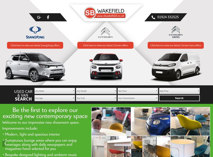 SB Wakefield Limited homepage screenshot