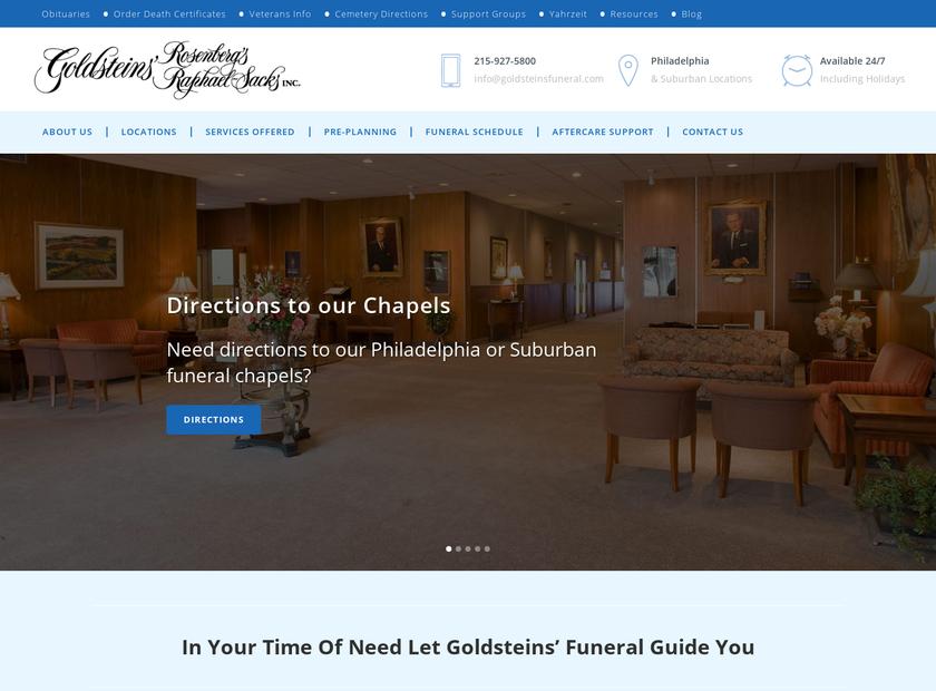 Goldsteins' Rosenberg's Raphael-Sacks Inc homepage screenshot