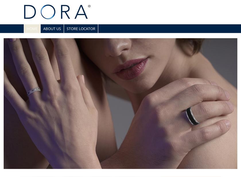 Dora Rings homepage screenshot