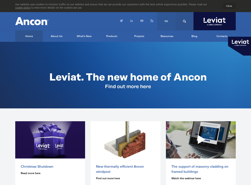 Ancon Ltd homepage screenshot
