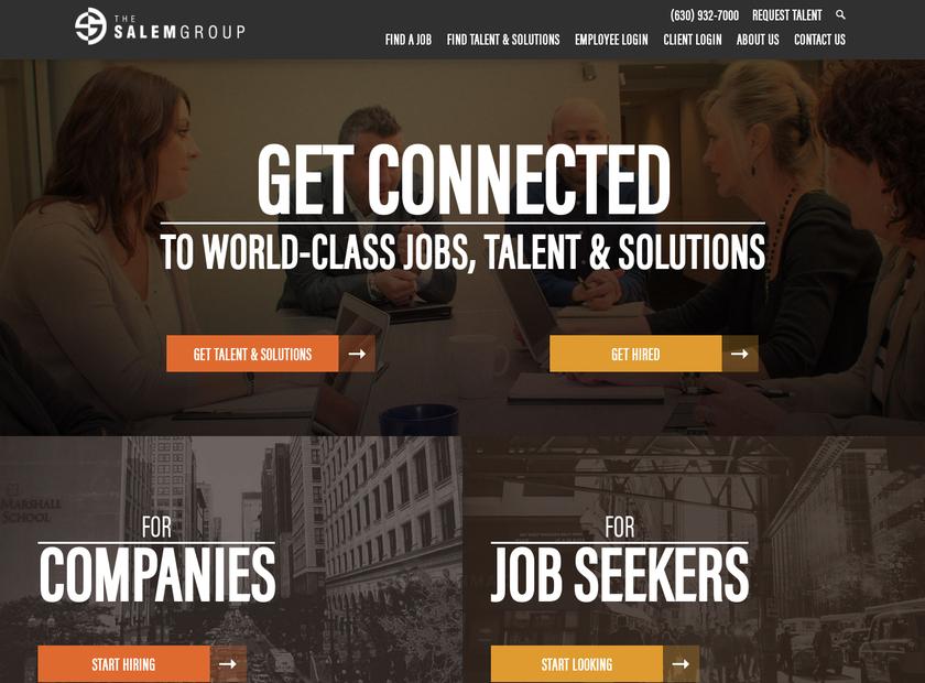 The Salem Group homepage screenshot
