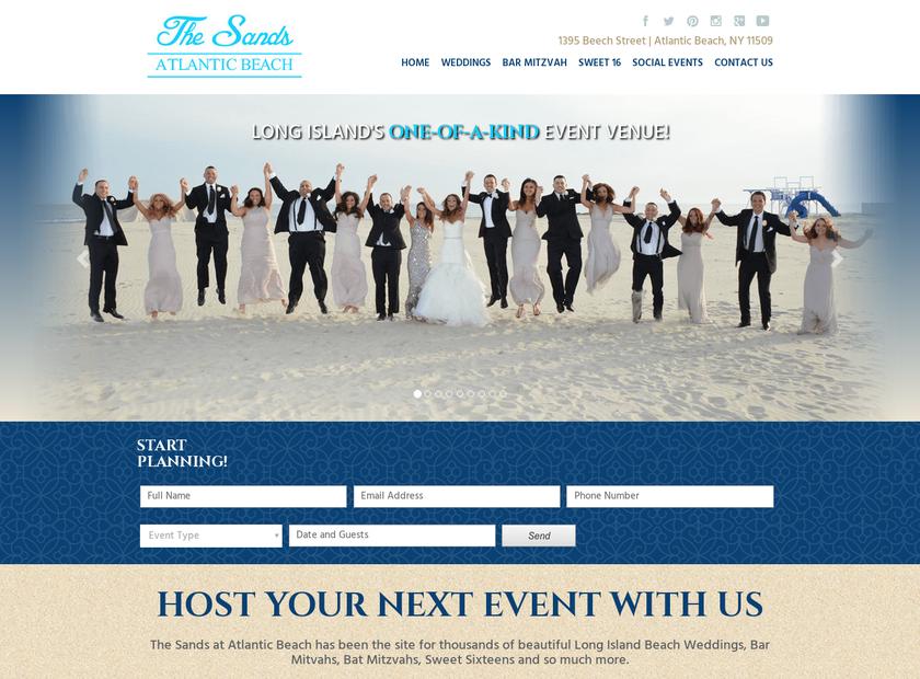 The Sands Atlantic Beach homepage screenshot
