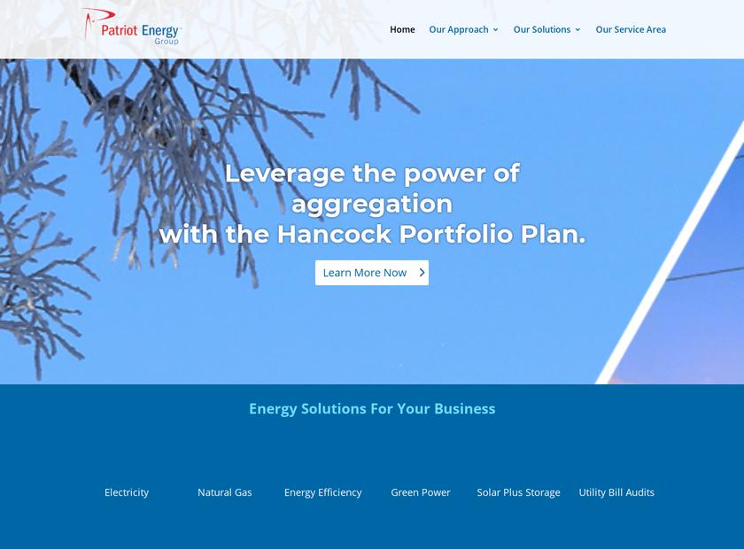 Patriot Energy Group Inc homepage screenshot