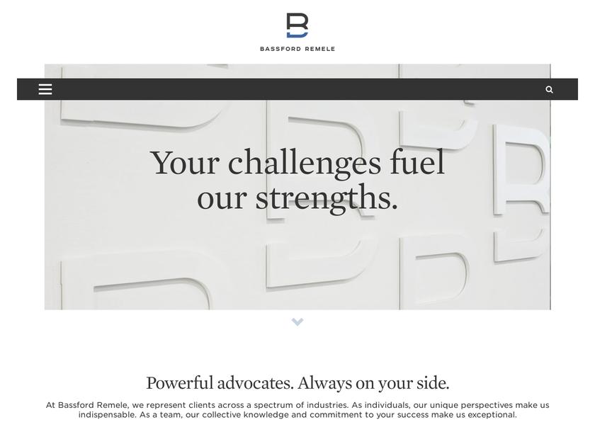 Bassford Remele homepage screenshot