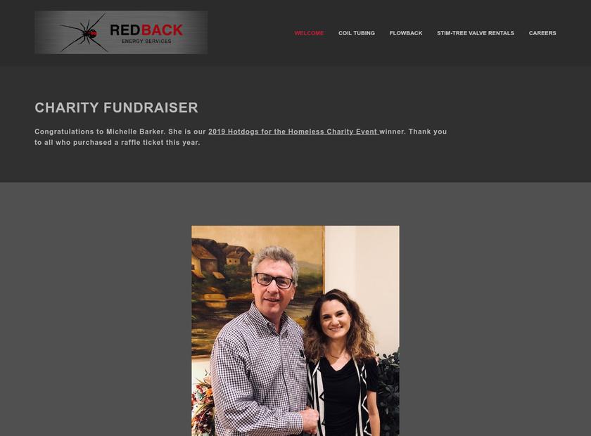 REDBACK Energy Services, LLC. homepage screenshot