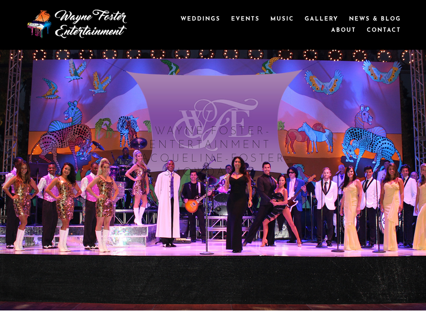 Wayne Foster Entertainment homepage screenshot