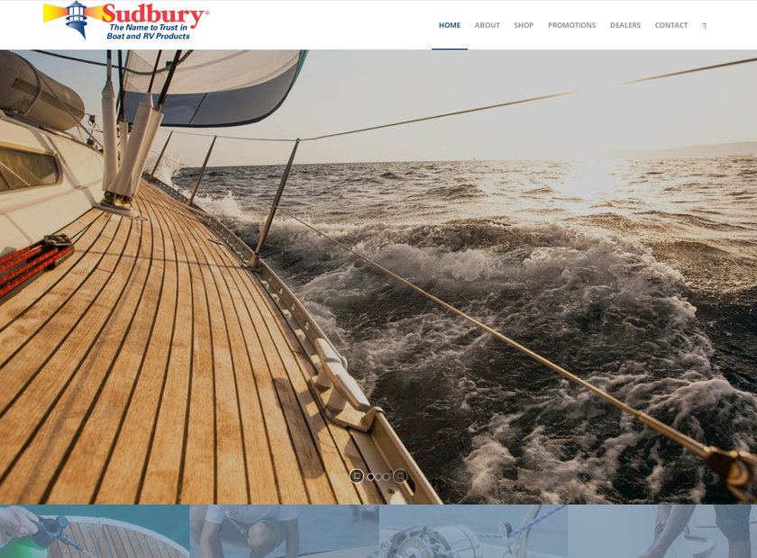 Sudbury Boat Care Products Inc homepage screenshot