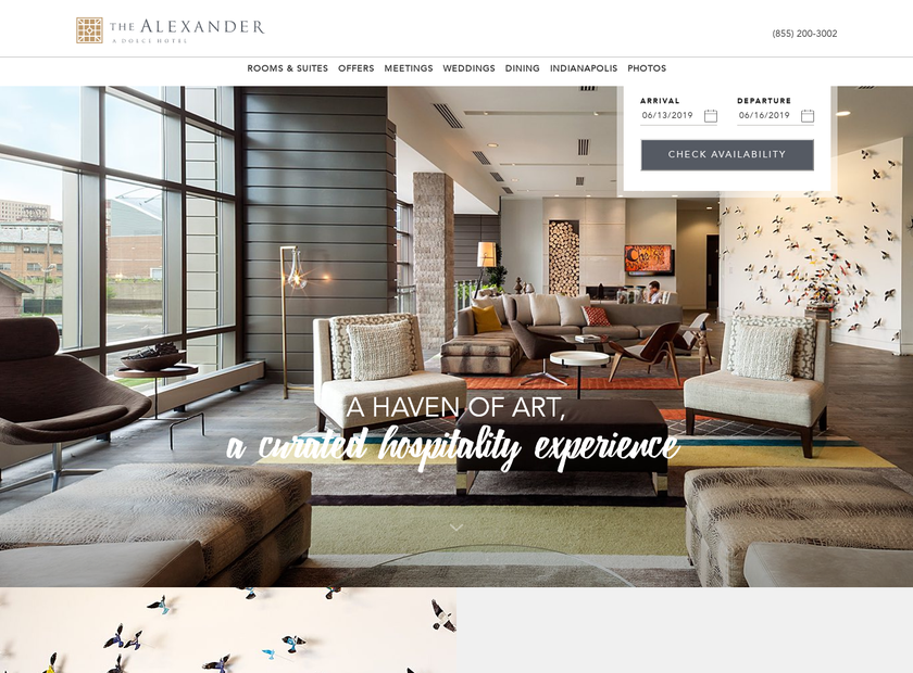 The Alexander homepage screenshot