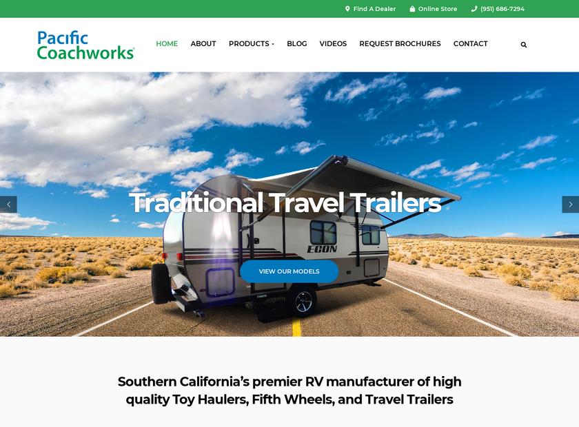 Pacific Coachworks, Inc. homepage screenshot