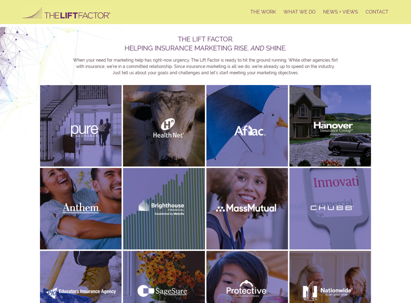 The Lift Factor homepage screenshot