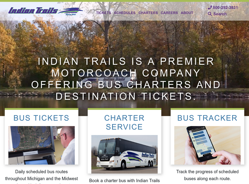 Indian Trails Inc homepage screenshot