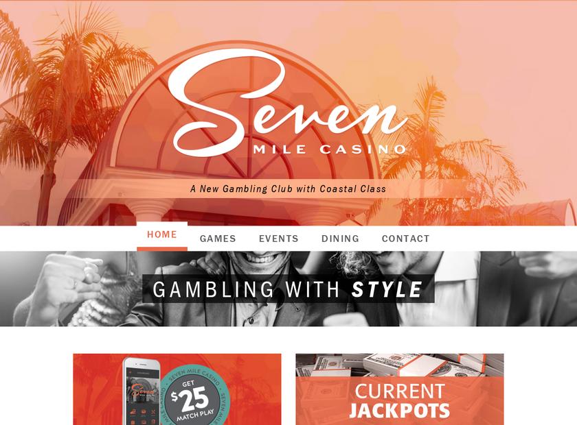 Seven Mile Casino homepage screenshot