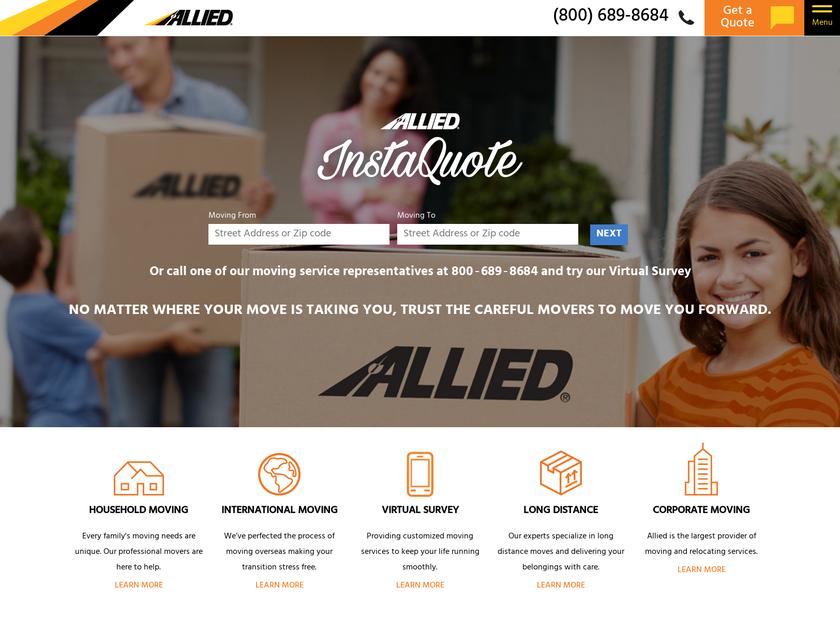 Allied Van Lines Inc homepage screenshot