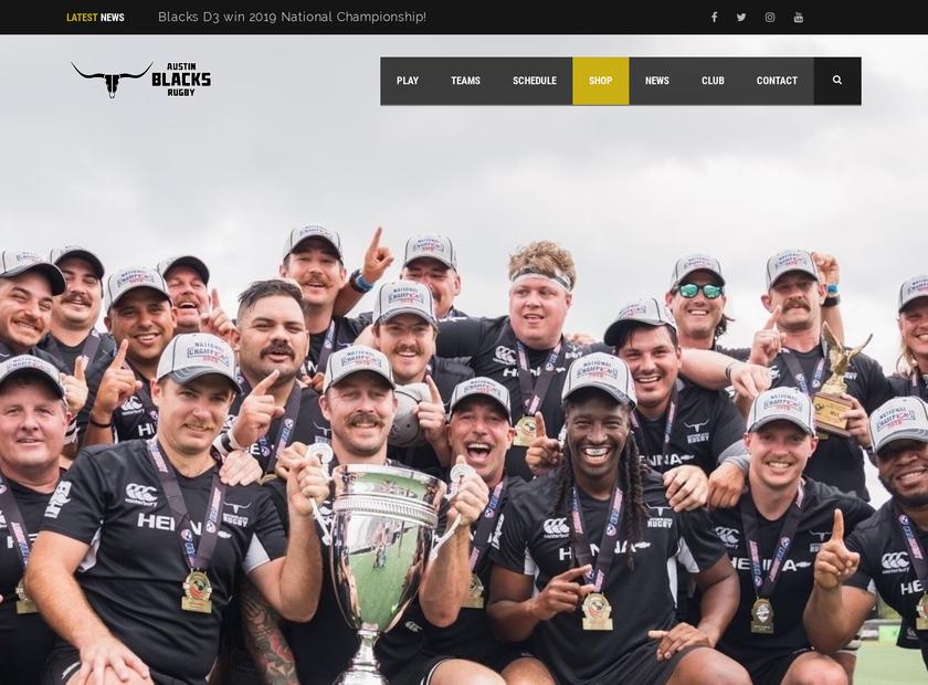 Austin Rugby Club homepage screenshot