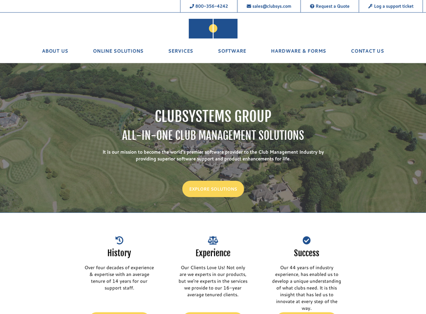 Clubsystems Group, Inc. homepage screenshot