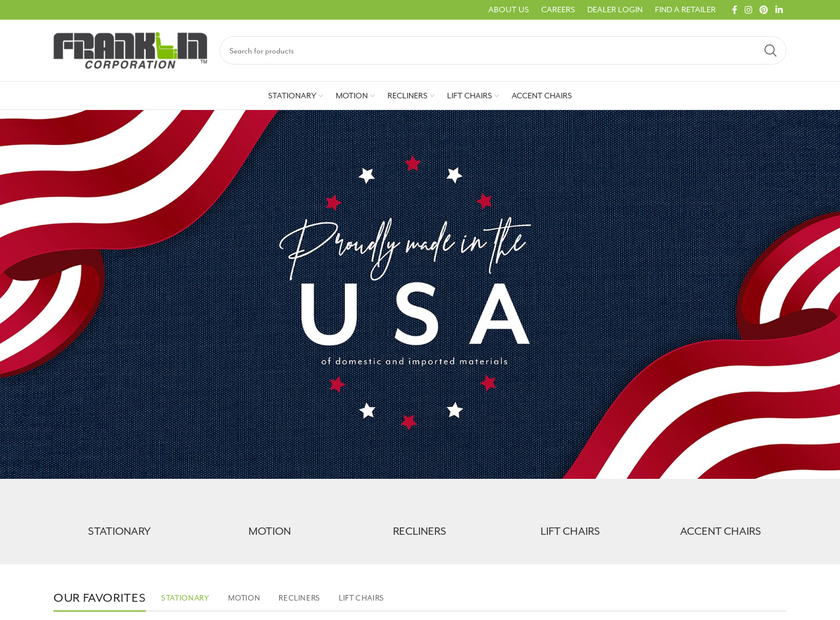 Franklin Corporation homepage screenshot