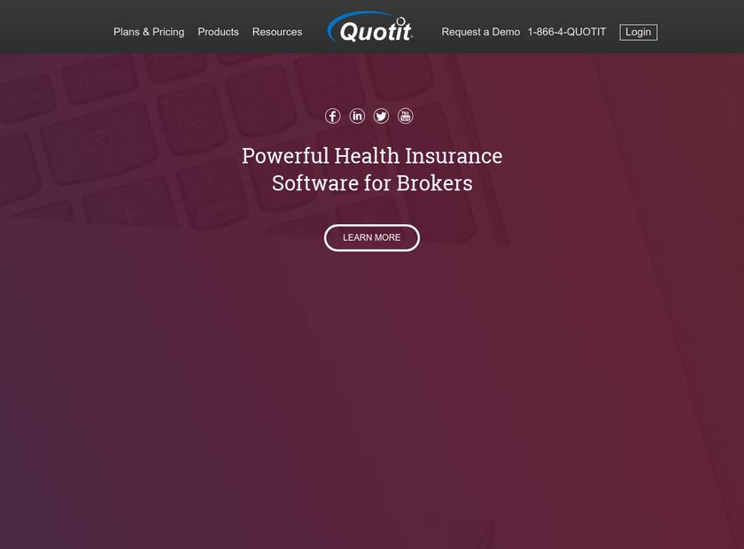 Quotit Corporation homepage screenshot