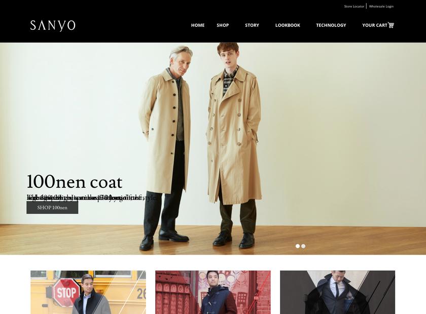 Sanyo Shokai Inc homepage screenshot