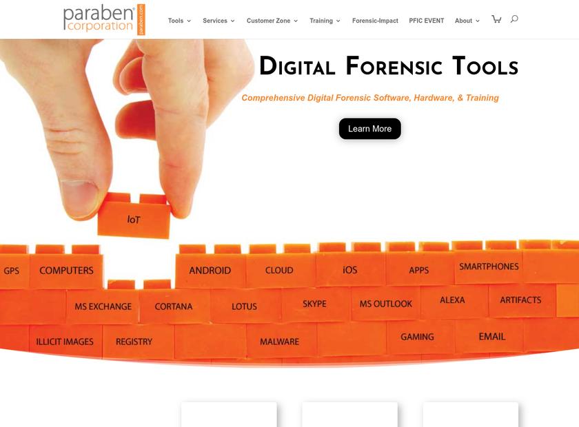 Paraben Corporation homepage screenshot