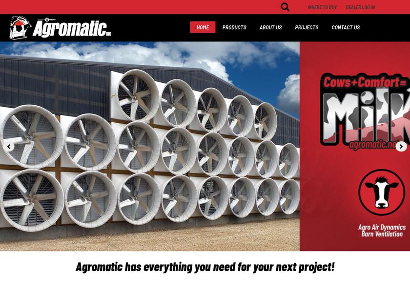 Agromatic Inc homepage screenshot
