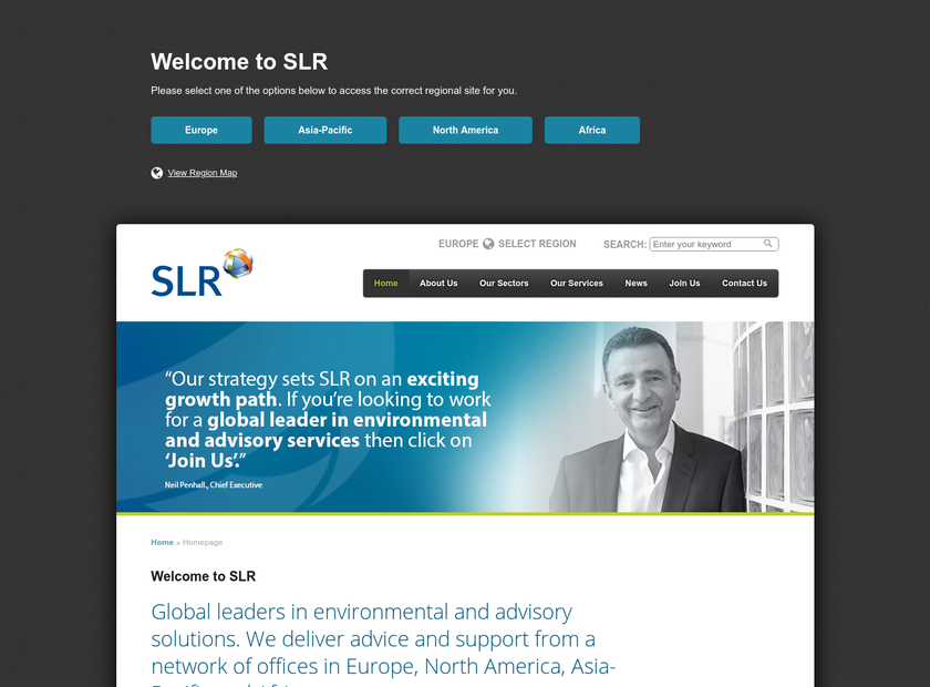 SLR Consulting Ltd homepage screenshot