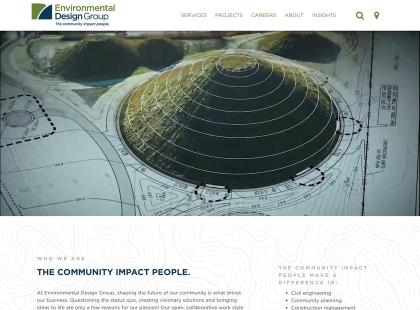 Environmental Design Group , Inc. homepage screenshot