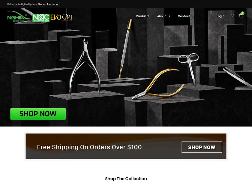 Nghia Nippers Corporation homepage screenshot