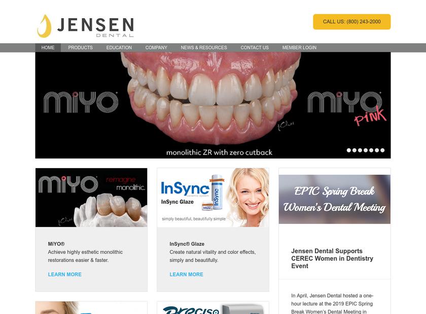 Jensen Industries Inc homepage screenshot
