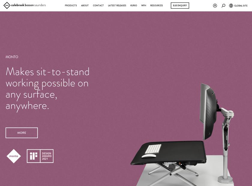 Colebrook Bosson Saunders homepage screenshot