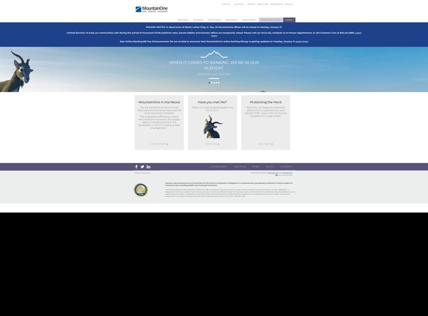MountainOne Financial Partners Inc homepage screenshot