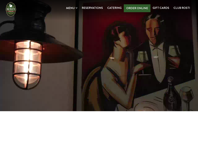Rosti Tuscan Kitchen homepage screenshot